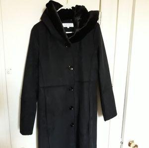 Calvin klein women faux fur coat